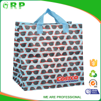 Foldable reusable colorful fruit and vegetables folding shopping bag