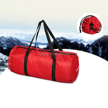 Foldable polyester duffel bag,yoga Gym garment bag sports travel bag