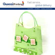 Light green fresh princess style gift packaging 3d cartoon paper bag