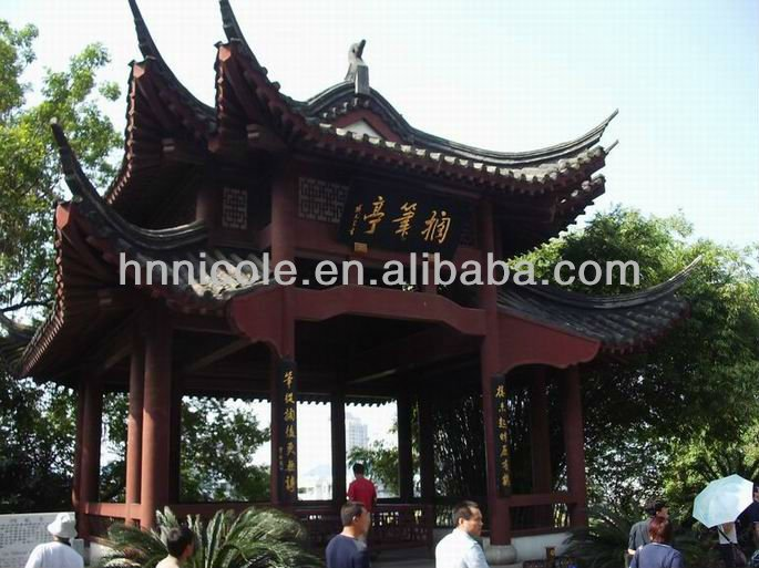 2013 hot sale low price best quality Chinese style gazebo unglazed roofing tiles