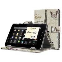 Brand New Universal Tablet Case 8 inch Printing Magnetic Stand Wallet PU Leather Flip Cover Case For Qumo Flame 8Gb 8'