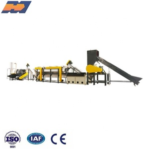 plastic PET bottle flake washing recycling drying machine production line