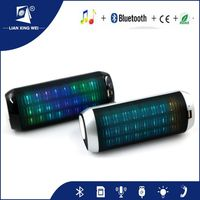 2016 Round led light bluetooth stereo speaker with CE. Rohs