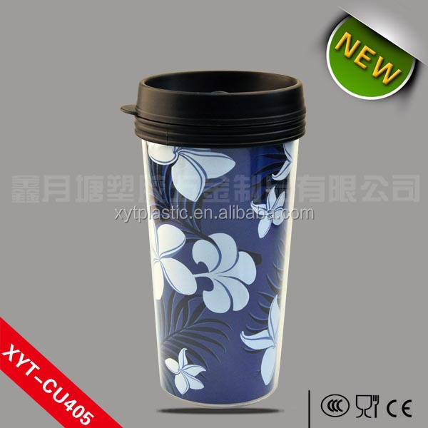 16oz/20oz/22oz double wall plastic mug &cups with insert paper