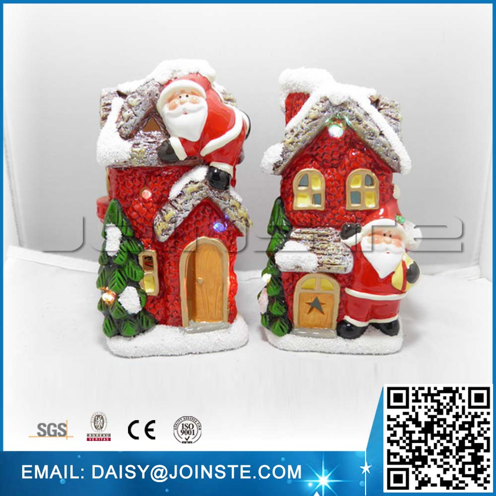 wholesale craft ceramic christmas village houses