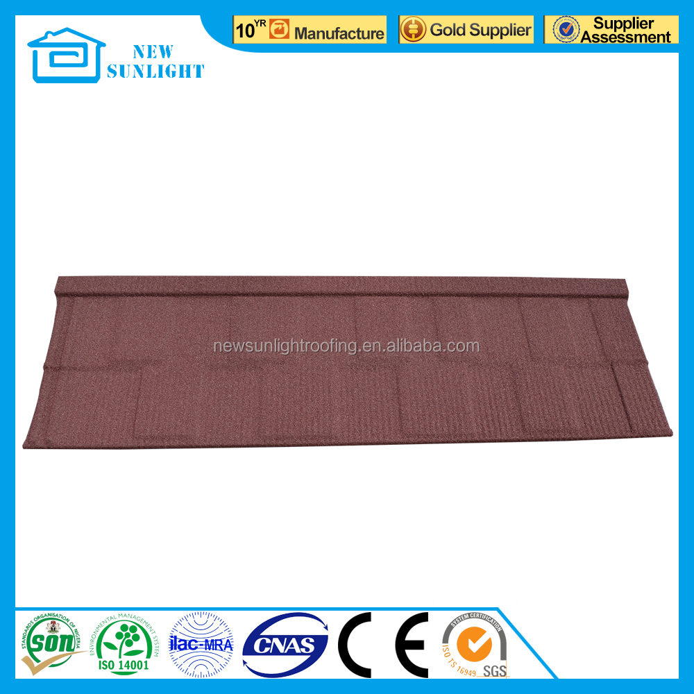 Spanish style roof tile stone coated metal roofing tile with CE Certificate
