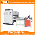 chain feeder corrugated carton box 2 color printing slotting machine with auto feeder