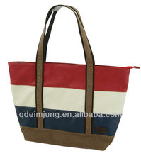 high quality pu leather tote bag