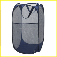 Navy Blue Mesh Pop-Up Laundry Hamper