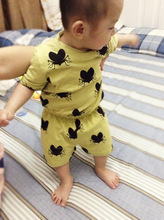 YF7705 Summer cotton kids jumpsuit cartoon boys girls clothing