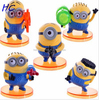 5pcs New Movie Despicable Me 2 Figure Play Set, High Quality Custom Cute Minion Figures Supplier, Action Figure
