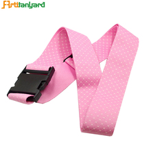 Wholesale Personalized Custom Made Polyester Luggage Strap With Detach Buckle