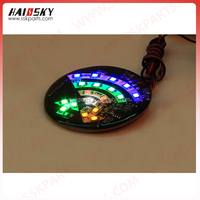 Haissky motorcycle accessories flashing brake light 12v led colorful flashing lights