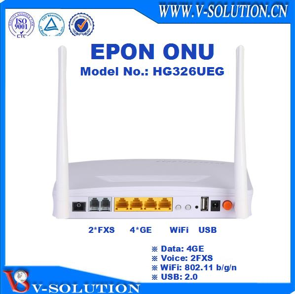 4GE+WiFi+CATV GPON ONT Fiber Optic ONU with Built-in WDM Filter Compatible with Huawei/ZTE/Fiberhome OLT