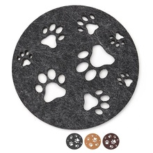 Hot Custom Laser Cut Felt Cup Mat/felt Coaster