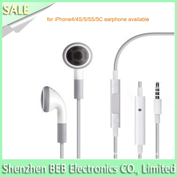 Genuine for apple iphone 5 earphones has low price