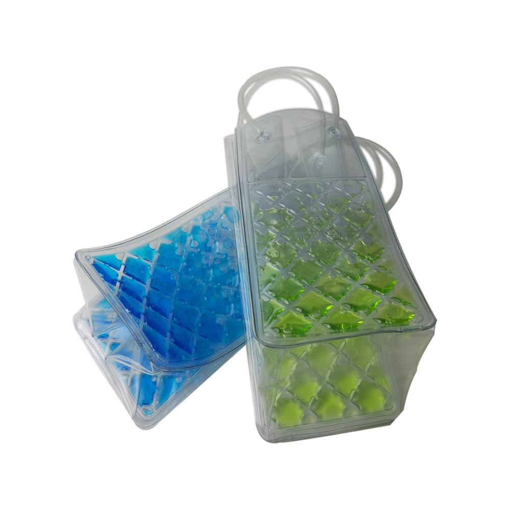 The strong little ice bag is completely water-tight and can hold one bottle ice wine bag pouch cooler bag with handle