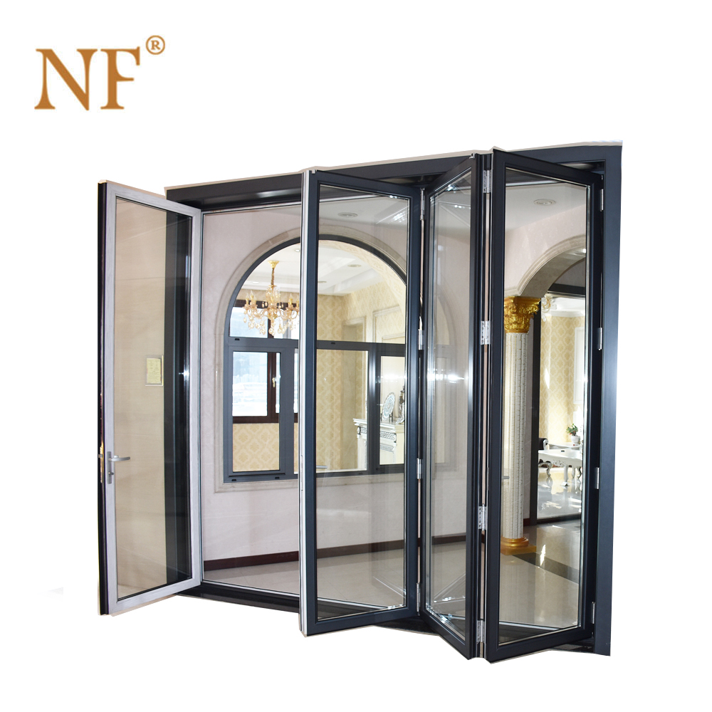 Aluminium profile double glass bifold <strong>door</strong>
