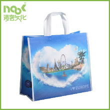 2015 promotional recyclable tote pp non woven shopping bag
