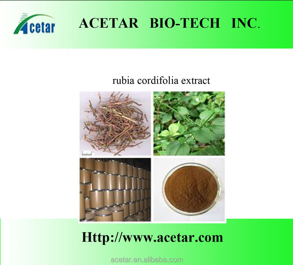 Factory Supply Rubia Cordifolia Extract/Rubia Cordifolia P.E. ( 10:1 5:1) with TLC