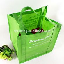 Custom eco pp non woven reusable tote shopping grocery bag