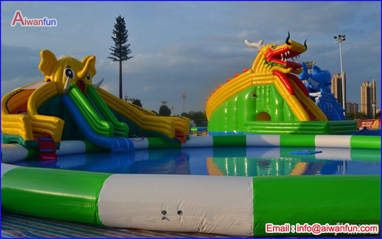 water park inflatable hurricane slide
