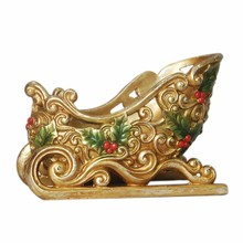 Wholesale ! resin beautiful gold sleigh