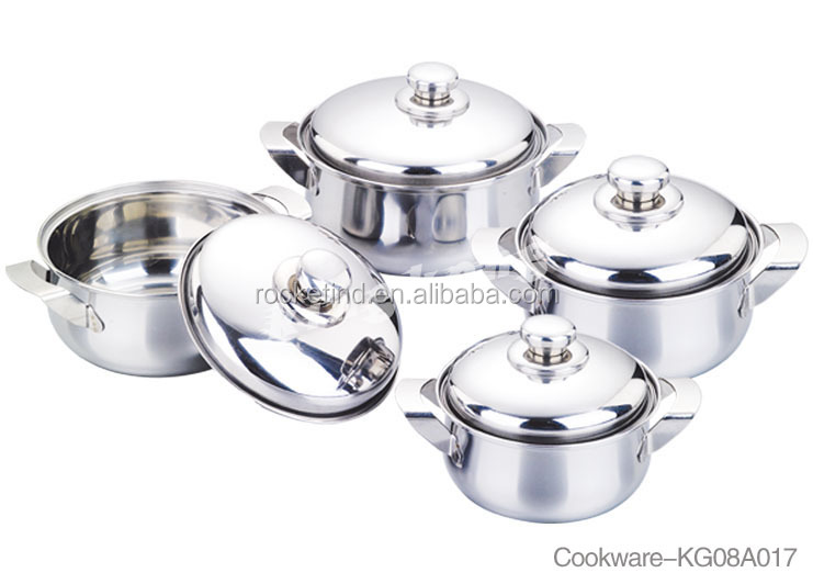 #410 Best Brand Stainless Steel Cookware Pots &Cook Pans Set