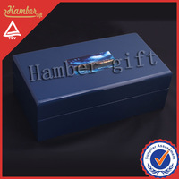 Logo print wooden box
