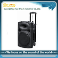 portable trolley big power speaker for outdoor with USB/SD/FM bluetooth system