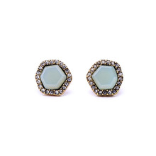 Cheapest price nice ature fashion earring single stone designs cute stud earrings