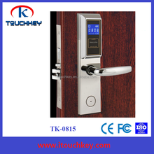 Hotel door lock system with elevator lift access reader