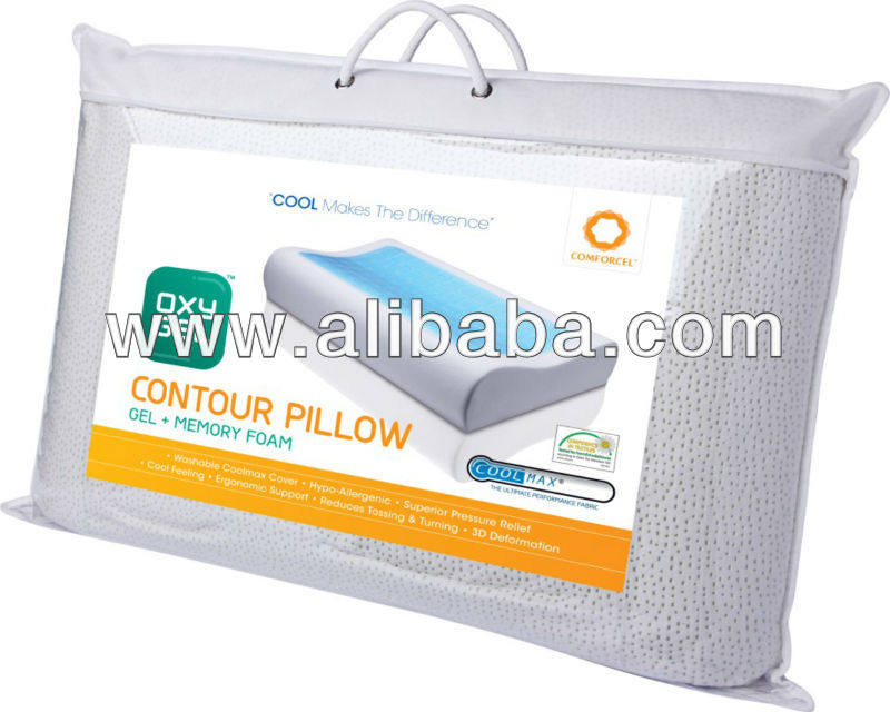 oxygel contour pillow buy gel memory foam pillow product on alibabacom