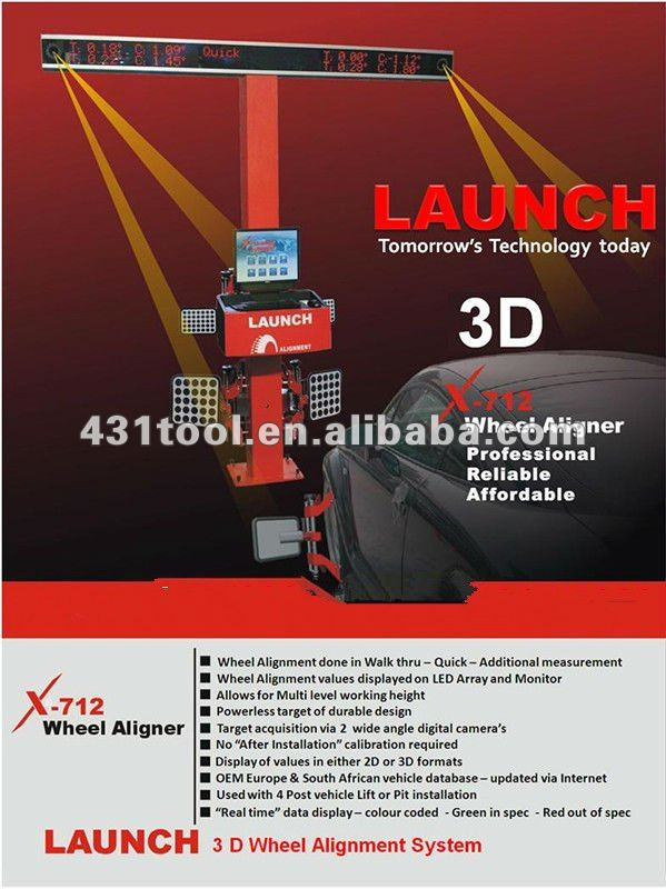 Car repair tool 3D Wheel Alignment LAUNCH X-712