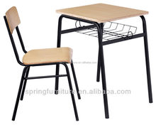 School furniture old school desks height adjustable school desk CT-327