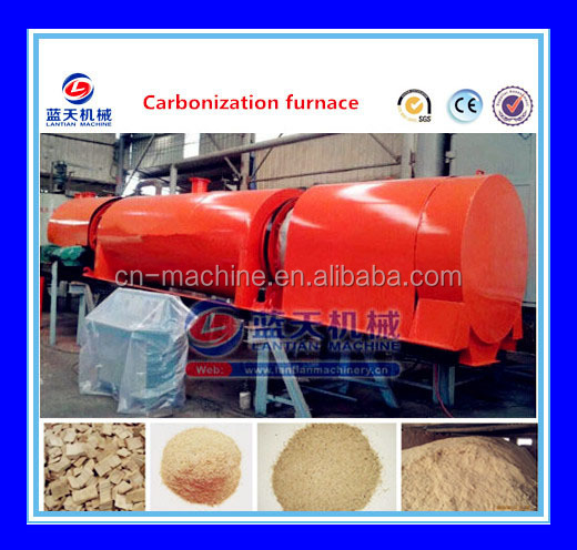 Continuously Working Sawdust Charcoal Making Furnace/palm Kernel Shell Powder Carbonizing Stove