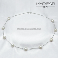 Lucky Necklace with freshwater pearl, Fashion chain for girls