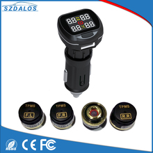 TPMS Tyre Pressure Monitoring System Solar Power Monitor , Wireless LED Display with 4 External Sensor Tire Pressure