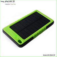waterproof mobile solar charger power bank 5000 mah