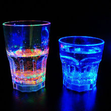 13Oz Fashionable Barware whosale custom rock led flashing cups