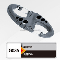 High quality plastic hiking carabiner hook/mountaineering buckle