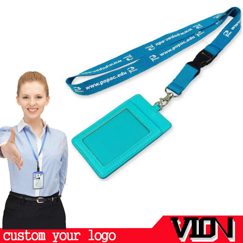 2017 Metal Band Breakaway Satin Nylon Personalized Woven Airline Lanyard With Id Holder Custom Logo