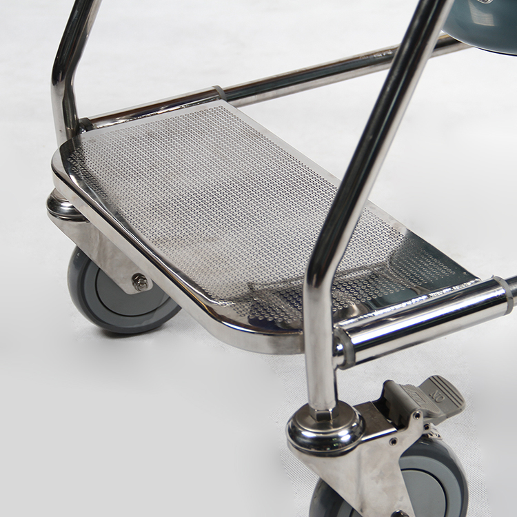 Stainless Steel Wheeled Rolling Shower Commode Toilet Chair for Sale