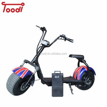 Removable battery 2018 new products big two wheels citycoco 1500W 60V adult electric motorcycle