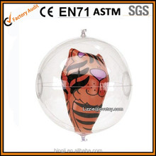 100% inspection EN71 transparent inflatable ball with toy inside