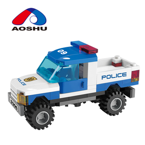 classic educational product DIY police series blocks building toy for kids