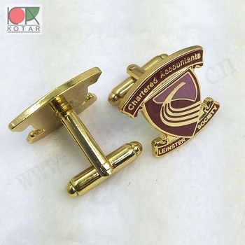 New enamel  soft enamel metal cufflinks gold plating cheap cuff-links
