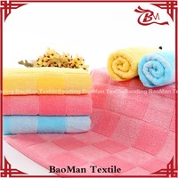 Best quality pure cotton soft color dyed tea cloth terry towel