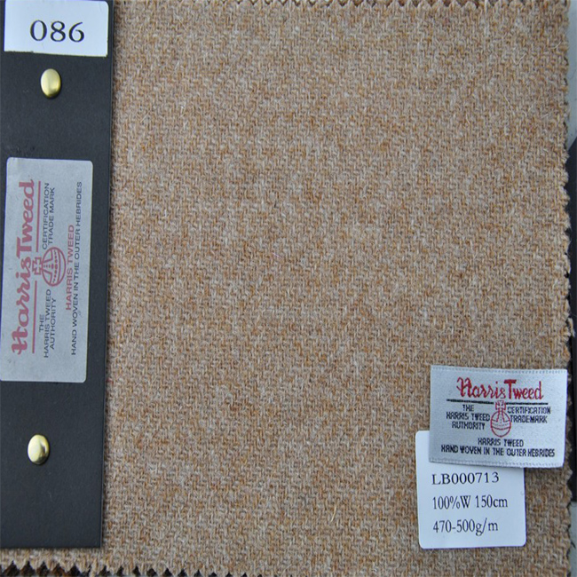 Green Harris tweed fabric for Luggage and bags