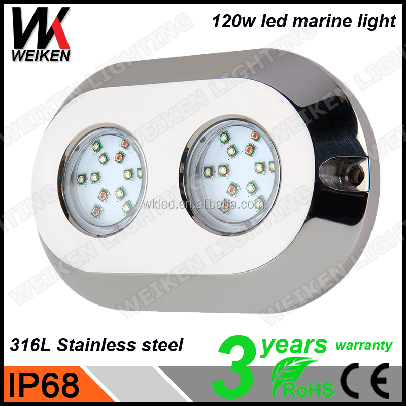 Waterproof 120w IP68 316L Stainless Steel RGB ecotech marine radion led light fixture